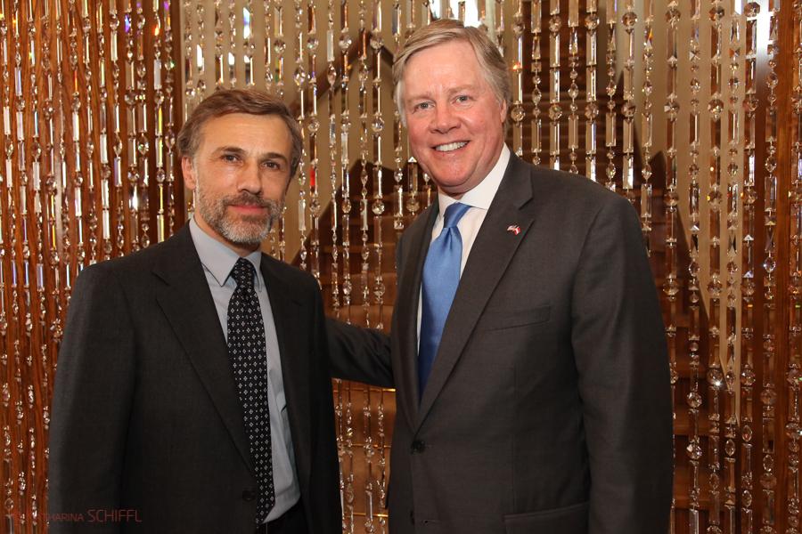 Oscar Winner Christoph Waltz & US Ambassador William Eacho