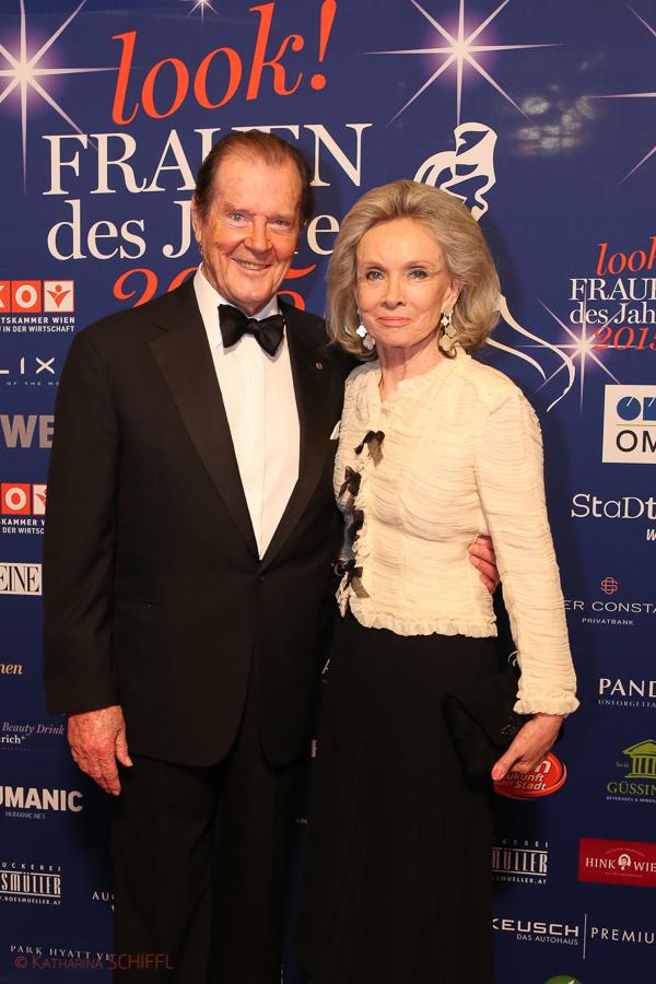 Roger Moore mit Frau Kristina Tholstrup