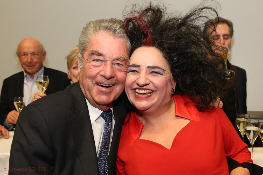 Heinz Fischer und Maria Happel @ Burgtheater Wien