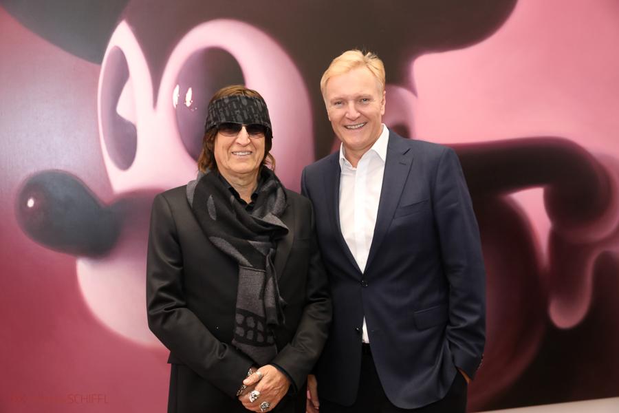 Gottfried Helnwein und Klaus Schröder in der Albertina