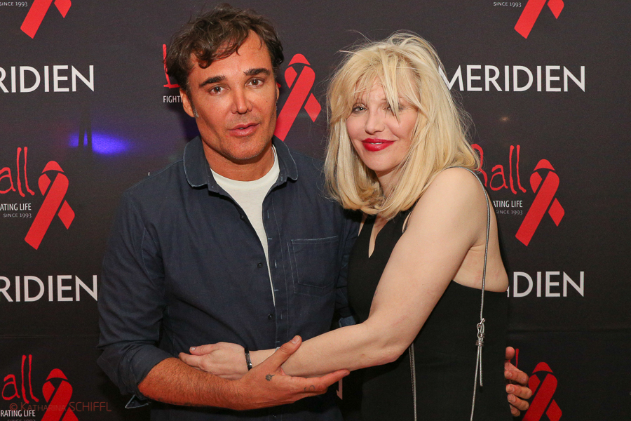 David LaChapelle und Courtney Love bei Life Ball Welcome Cocktai