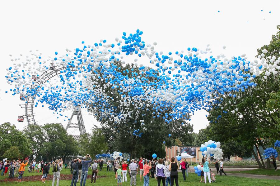 Hepatitis Hilfe Oesterreich – 8000Luftballone @ Wiener Prater Ka