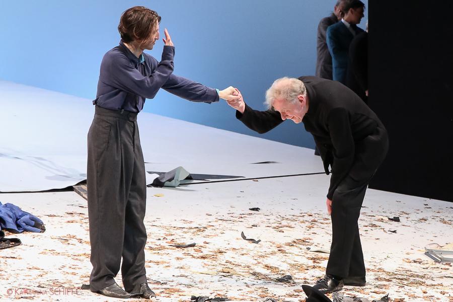 Christopher Nell und Claus Peymann @ Burgtheater Wien-Premiere