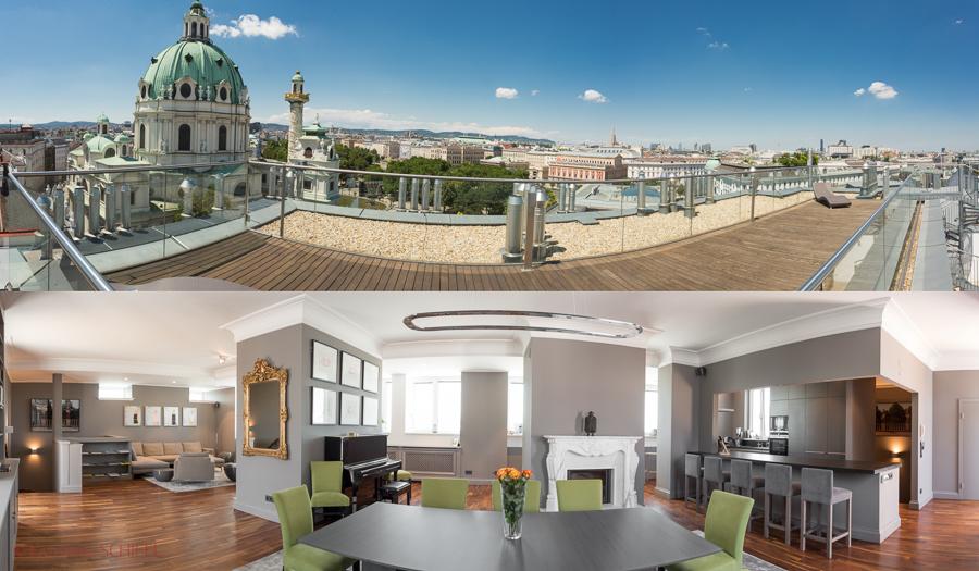 Rooftop-Apartment @ Karlskirche-Vienna